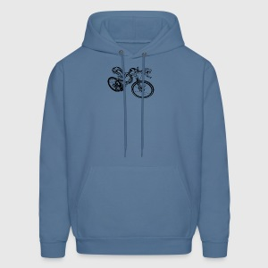 Snake Riding A Mountain Bike Shirt - Men's Hoodie
