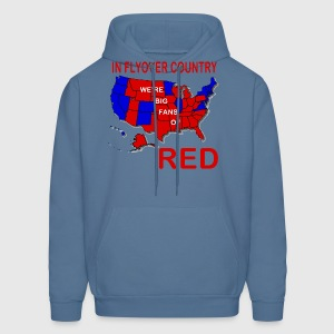 In Flyover Country we're big fans of Red - Men's Hoodie
