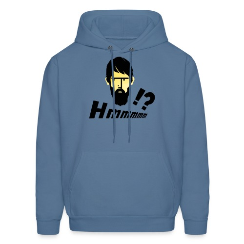 hmm!? emotion serious bearded face - Men's Hoodie