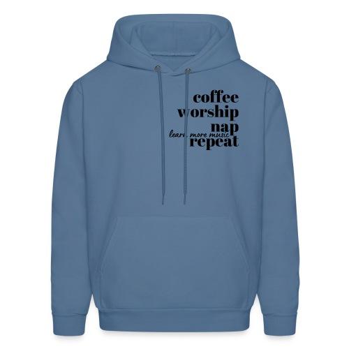 Coffee Worship Nap Tee - Men's Hoodie