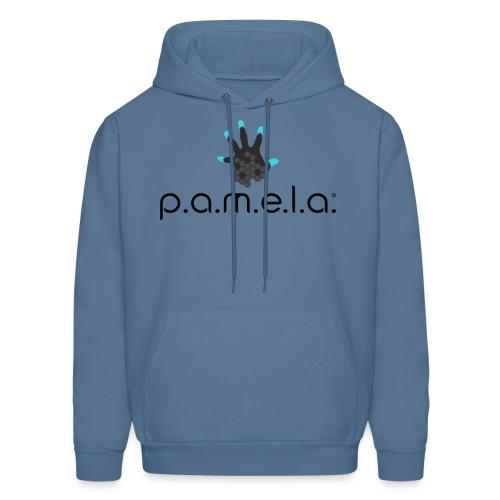 P.A.M.E.L.A. Logo Black - Men's Hoodie