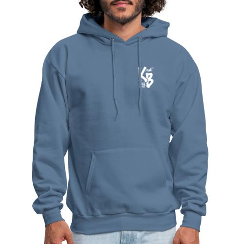 Kure Beach Day-White Lettering-Front and Back - Men's Hoodie