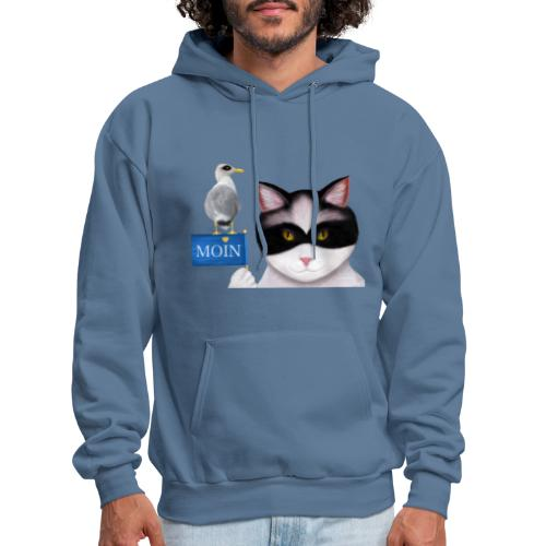 The masked Cat says MOIN - Men's Hoodie