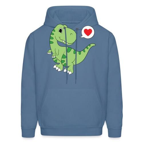 Dinosaur Love - Men's Hoodie