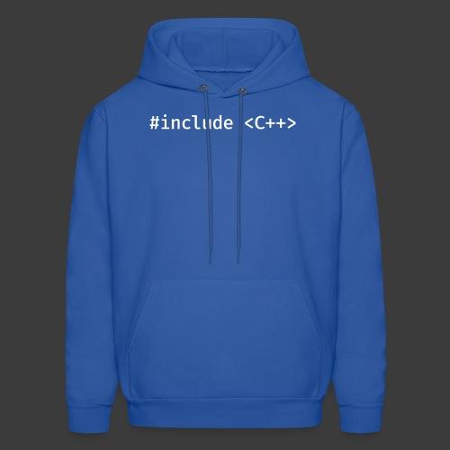 White Include Logo - Men's Hoodie