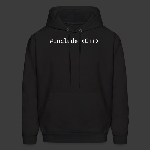 White Include Logo - Men's Hoodie
