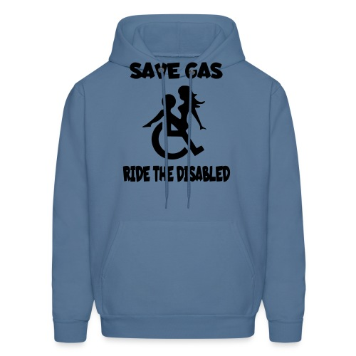 Save gas ride the disabled wheelchair user - Men's Hoodie