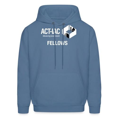 BW WITH TEXT Fellows actiac logo cmyk - Men's Hoodie