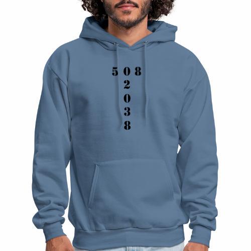 508 02038 franklin area/zip code - Men's Hoodie