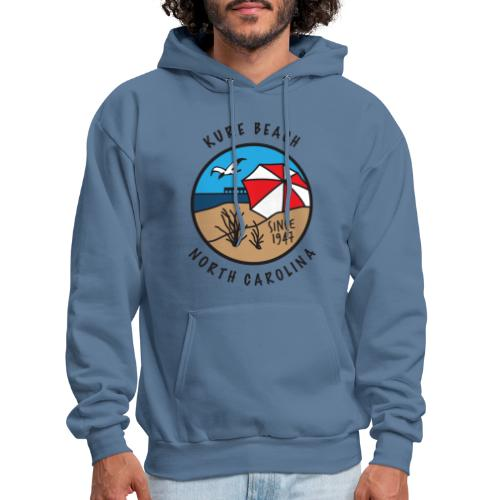 Kure Beach Day-Black Lettering-Front Only - Men's Hoodie