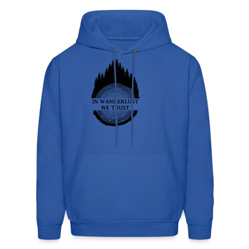 In Wanderlust We Trust - Men's Hoodie