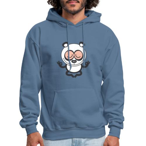 Wise panda bear meditating with great devotion - Men's Hoodie
