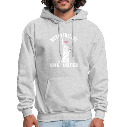 Nevertheless She Voted Pink Hat Lady Liberty - Men's Hoodie