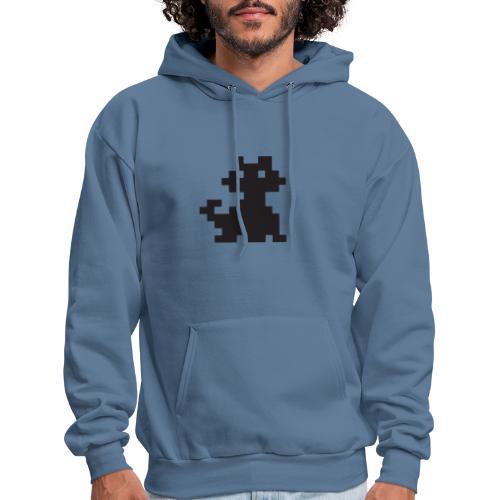 Pixelated Black Cat - Videogame, Retro Gaming - Men's Hoodie