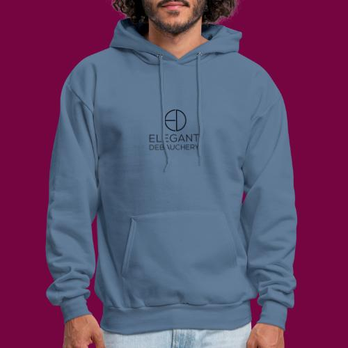 Elegant Debauchery Logo Stacked - Men's Hoodie