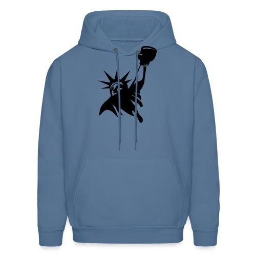 Lady Liberty Design w/ Black RSB Logo - Men's Hoodie