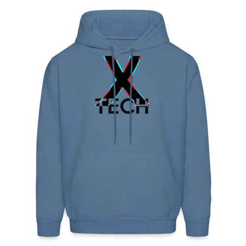 X-Tech Logo - Black - Men's Hoodie
