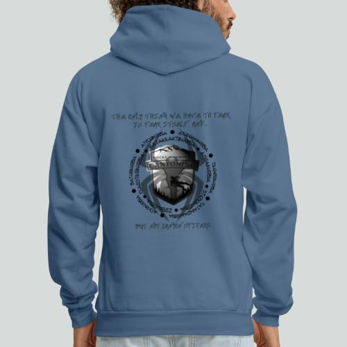 THE ONLY THING TO FEAR-on light back- 2 sided - Men's Hoodie