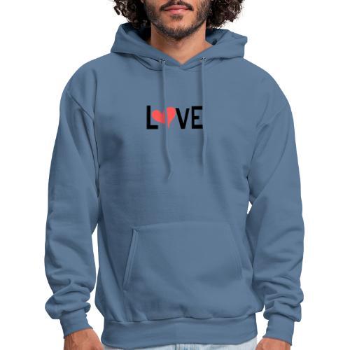LOVE heart - Men's Hoodie