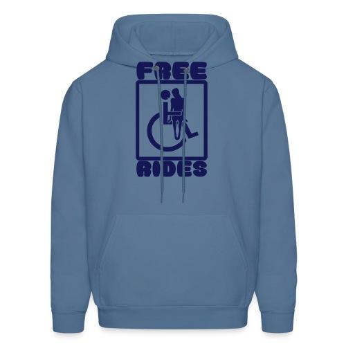 Free rides, wheelchair humor - Men's Hoodie