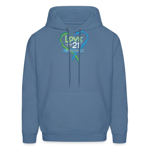 Down Syndrome Love (Blue/White) - Men's Hoodie