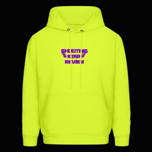 Shooting Star Review Purple Logo - Men's Hoodie