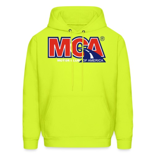 MCA Logo WBG Transparent WHITE TITLEfw png - Men's Hoodie