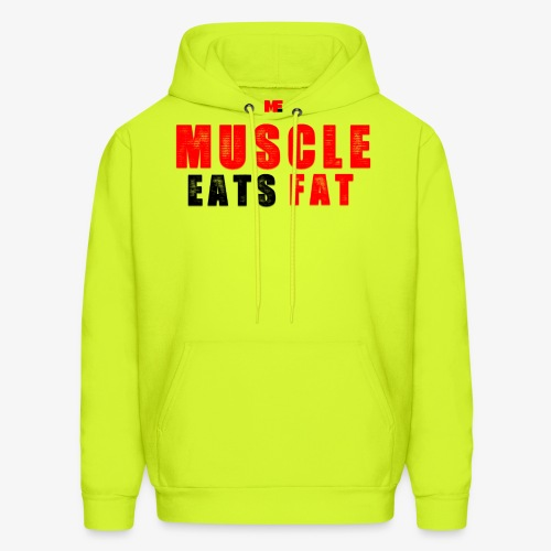 Muscle Eats Fat Red Black Edition - Men's Hoodie