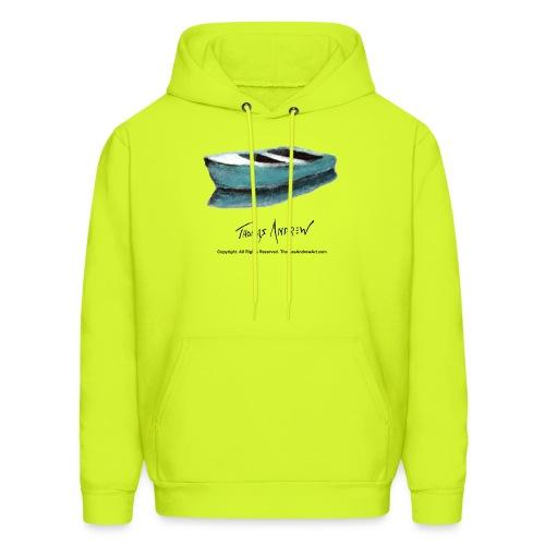 Blue Boat Tshirt design3P - Men's Hoodie