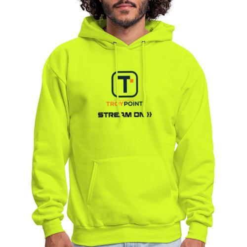TROYPOINT Stream On Navy Logo - Men's Hoodie