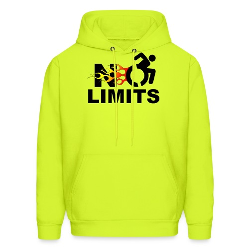 No limits for me with my wheelchair - Men's Hoodie