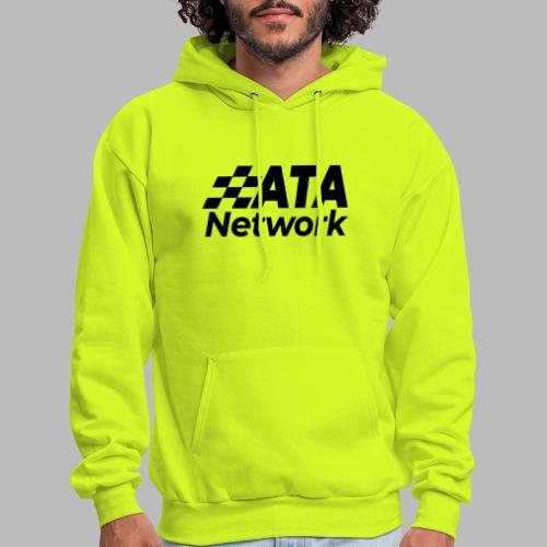 ATA Network Black Stacked Logo - Men's Hoodie
