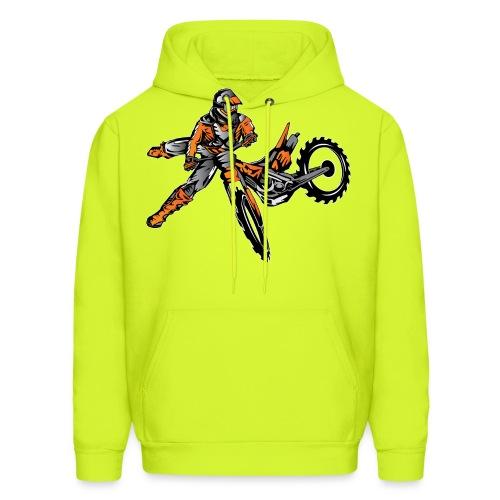 Orange Freestyle Motocross Rider - Men's Hoodie