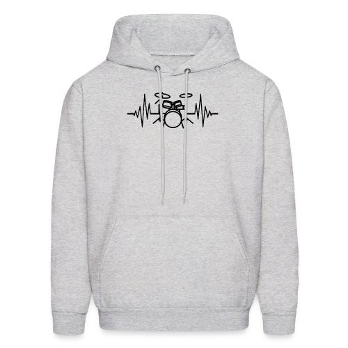 Drums Heartbeat Funny drummer - Men's Hoodie