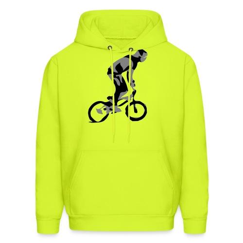 bmx rider street bike bicolor on highbal - Men's Hoodie
