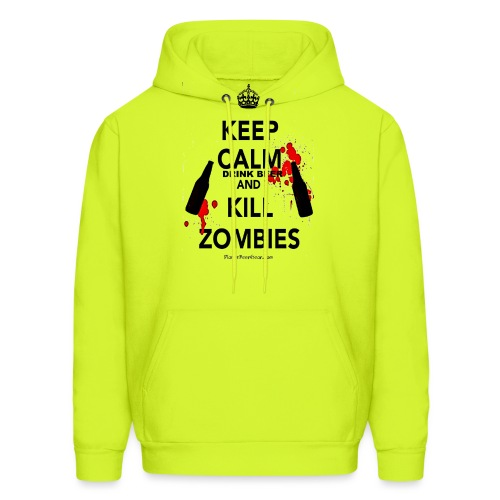 Keep Calm Drink Beer And Kill Zombies - Men's Hoodie