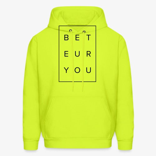 Black Puzzle Design - Be You, Be True - Men's Hoodie