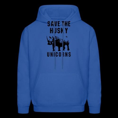 Save the Husky Unicorns | Funny Rhino - Men's Hoodie