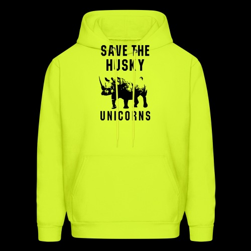 Save the Husky Unicorns | Funny Rhino - Men's Hoodie