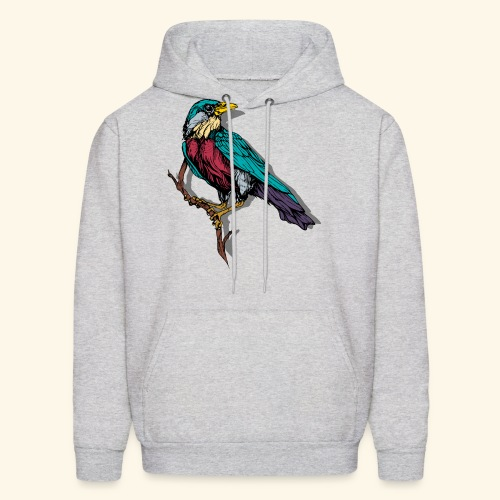 Colorful Bird Design - Men's Hoodie