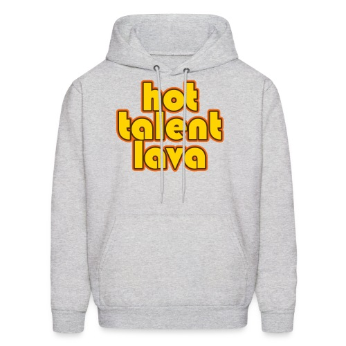 Hot Talent Lava - Yellow Letters - Men's Hoodie