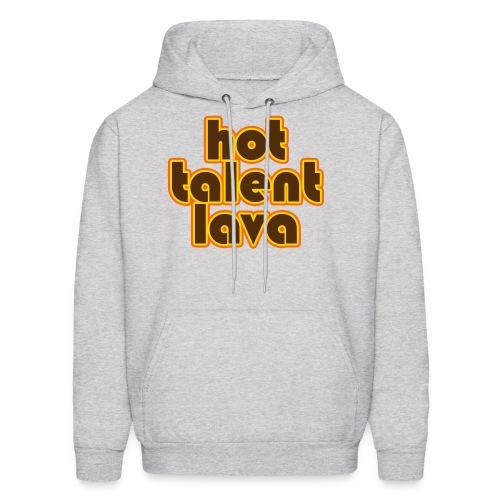 Hot Talent Lava - Brown Letters - Men's Hoodie