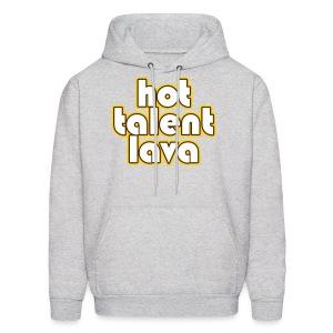 Hot Talent Lava - White Letters - Men's Hoodie