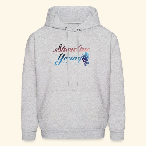 Shorlinepinkblue - Men's Hoodie