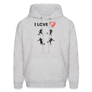 Geek T-shirt I love soccer - Men's Hoodie