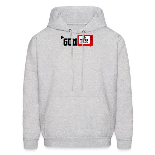 guntube larger logo - Men's Hoodie