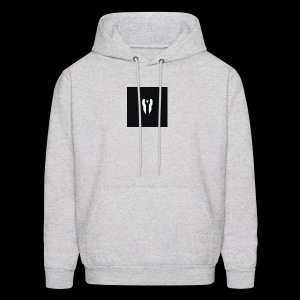 Small Black Box Divided Time Logo - Grey - Men's Hoodie