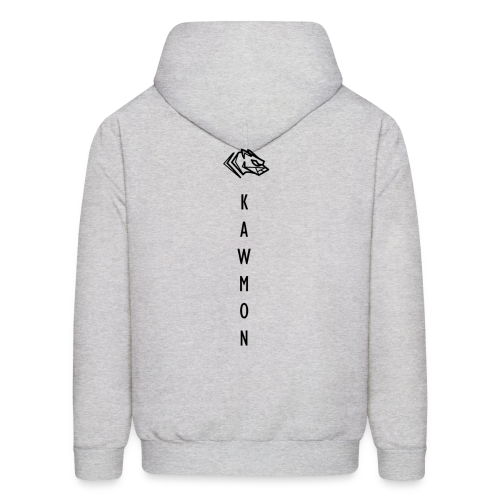 Kawmon Athleisure Gym Apparel Back Logo - Men's Hoodie