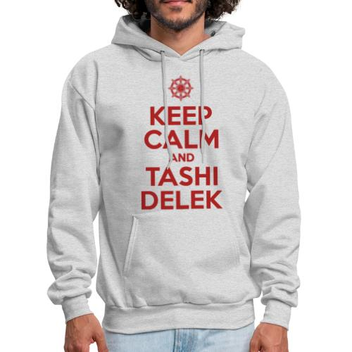 Keep Calm and Tashi Delek Tibet Dharma Wheel - Men's Hoodie