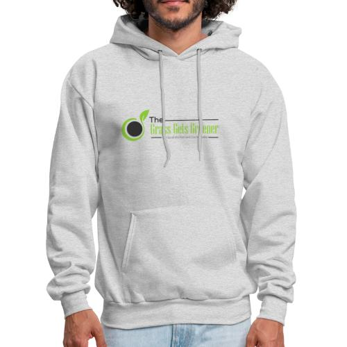 The Grass Gets Greener Logo w/ Text - Men's Hoodie
